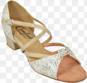 Gold Leaf - High-heeled Footwear Sandal Shoe Beige PNG