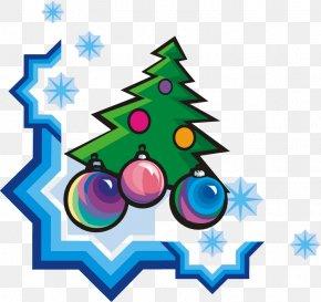 Snow Pine Decoration - Ded Moroz Pine New Year Tree Cedar Clip Art PNG