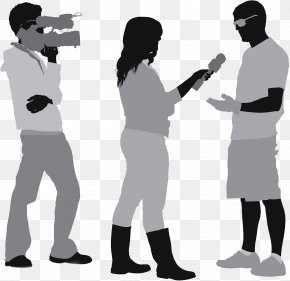Silhouette Of An Interviewer - Interview Journalist Camera Operator Television PNG