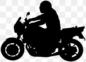 Biker Silhouette Clip Art Image - Motorcycle Silhouette Clip Art PNG