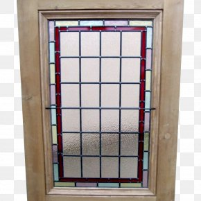 Glass Display Panels - Window Stained Glass Edwardian Era Door PNG