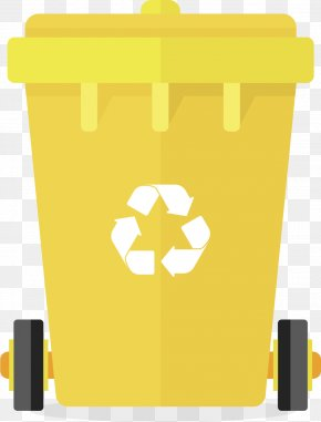 Yellow Trash Can - Paper Waste Container Logo PNG