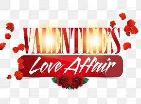 Valentines Day WordArt Love,affair Rose Petals - Valentines Day Template Flyer Poster PNG