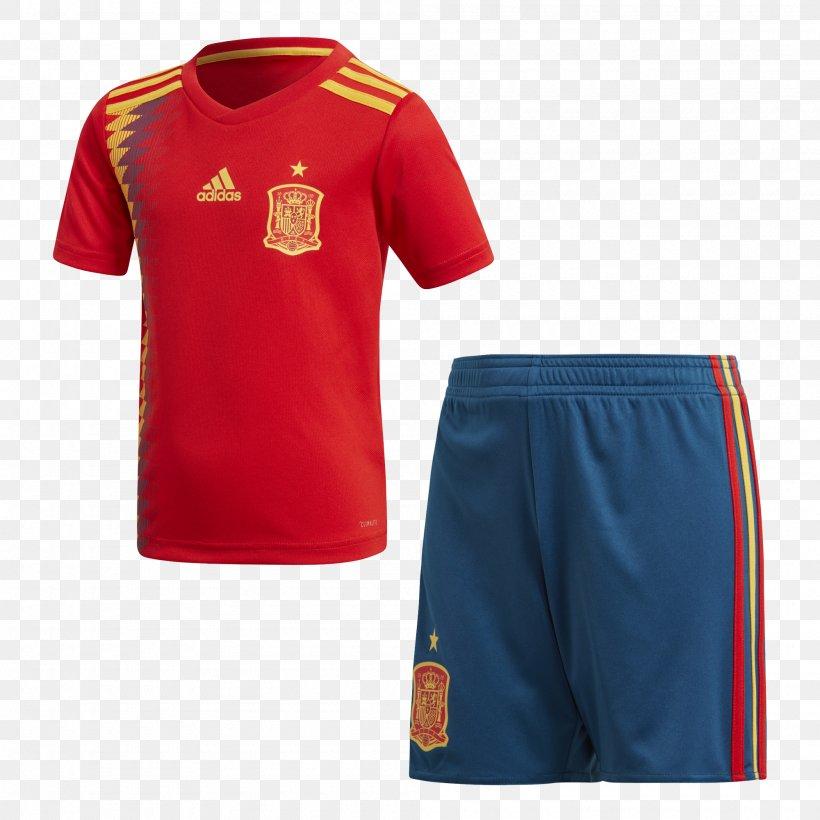Spain National Football Team T-shirt 2018 World Cup Kit Adidas, PNG, 2000x2000px, 2018 World Cup, Spain National Football Team, Active Shirt, Active Shorts, Adidas Download Free