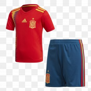 Spain National Football Team 2018 Fifa World Cup - Spain National Football Team T-shirt 2018 World Cup Kit Adidas PNG