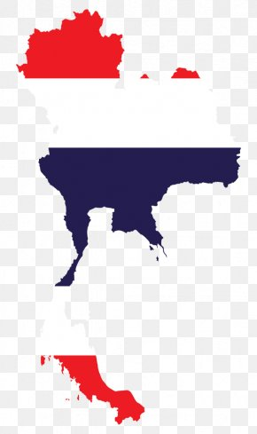 Map - Flag Of Thailand National Flag Map PNG
