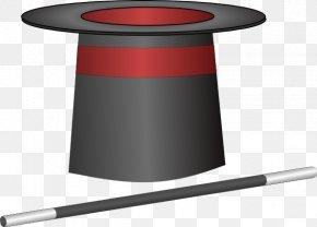 Magic Hat Clipart - Top Hat Magic Wand Clip Art PNG