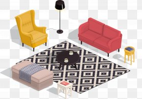 Living Room Sofa Renderings - Living Room Isometric Projection Interior Design Services PNG