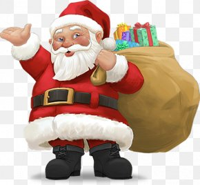 Christmas Santa Claus - Santa Claus Christmas New Years Day Wish PNG