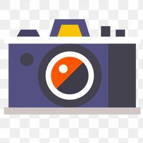 Flat Camera - Video Camera Flat Design PNG