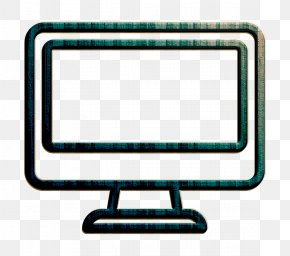 Rectangle Computer Monitor Accessory - Computer Icon Electronic Icon Technology Icon PNG
