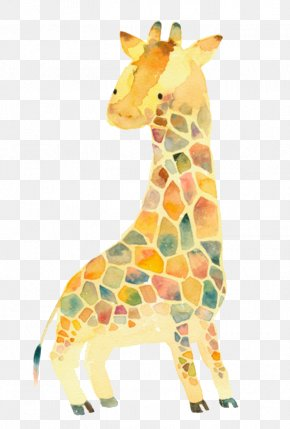 Hand-painted Giraffe - Sweater Sleeve Clothing Cardigan Polo Neck PNG