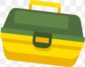 Green Concise Toolbox - Toolbox Saw PNG