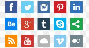 Social Icons Photos - Social Media Social Network Flat Design Icon PNG