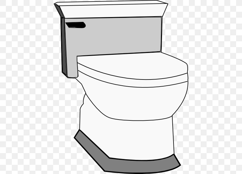 Toilet Free Content Bathroom Clip Art, PNG, 456x591px, Toilet, Area, Bathroom, Bathroom Accessory, Black And White Download Free