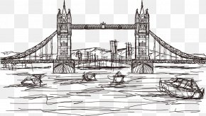 London Bridge Vector Artwork - Tower Bridge Leaning Tower Of Pisa Drawing Tourist Attraction PNG