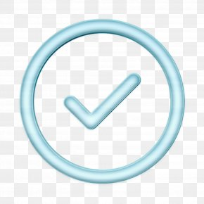 Symbol Turquoise - Check Mark Icon Correct Icon Success Icon PNG