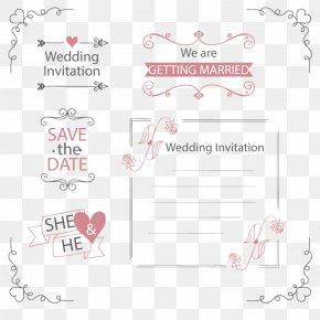 Vector Wedding Invitation - Wedding Invitation Marriage PNG
