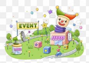 Circus Clown - Clown Car Circus Clown Illustration PNG