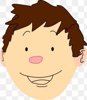 Boy Smiling Cliparts - Cartoon Child Face Clip Art PNG