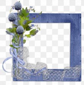 Mediterranean Style Blue Frame - Picture Frame Digital Scrapbooking Clip Art PNG