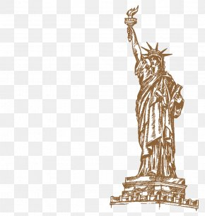 New York Statue Of Liberty - Statue Of Liberty Drawing Illustration PNG