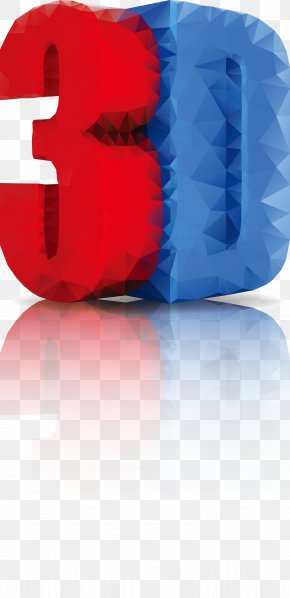 The Effect Of Red And Blue 3D Word - 3D Computer Graphics Microsoft Word 3D Film PNG