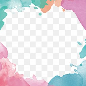 Vector Hand-painted Watercolor Border - Euclidean Vector Drawing Flower PNG