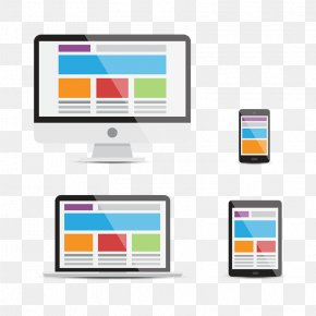 Devices, Responsive Web Design - Responsive Web Design Digital Marketing Flat Design PNG