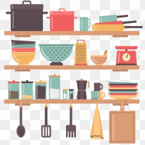Kitchen Tools Vector Shelf - Kitchen Utensil Interior Design Services House Home PNG