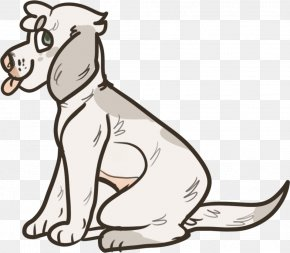 Dog - Dog White Line Art Human Behavior Clip Art PNG