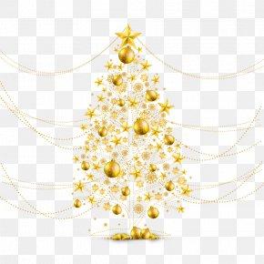 Vector Gold Christmas Tree - Christmas Tree Christmas Ornament O Tannenbaum PNG