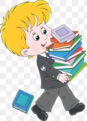 Students Holding Books - Book Royalty-free Cartoon Illustration PNG