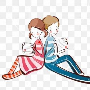 Cartoon Couple - Samsung Galaxy Note 3 IPhone 6 Cartoon Drawing Wallpaper PNG