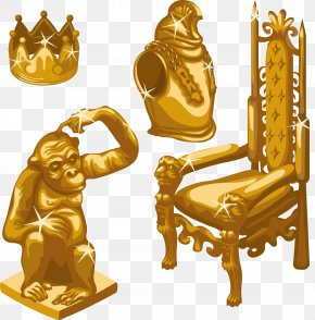 Gold Crown Chair Image - Throne Stock Illustration Royalty-free Illustration PNG