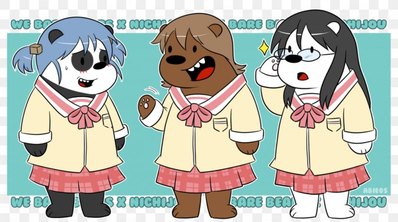 Giant Panda YouTube Nichijou Drawing DeviantArt, PNG, 1024x572px, Watercolor, Cartoon, Flower, Frame, Heart Download Free