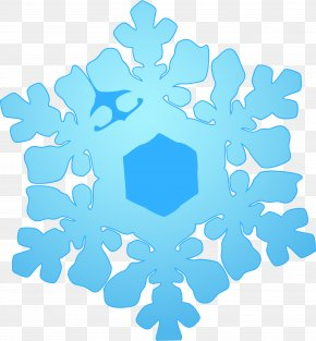 Blue Fresh Snow - Blue Snowflake Cloud PNG