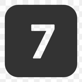 Number 7 - Numerical Digit Number Digital Data Icon PNG