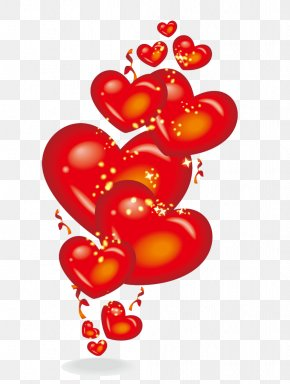 Red Love Balloon - Balloon Heart Computer File PNG