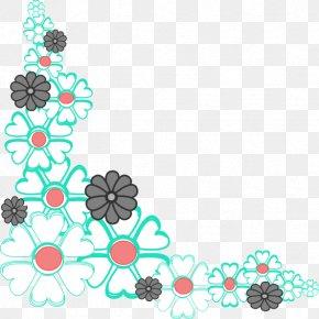 Flower Corner Cliparts - Flower Free Content Clip Art PNG