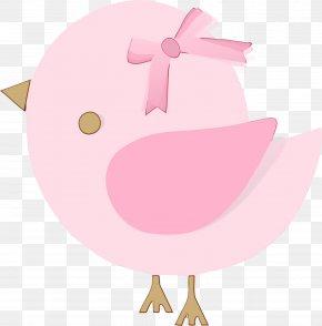 Domestic Pig Suidae - Pink Cartoon Clip Art Livestock Suidae PNG