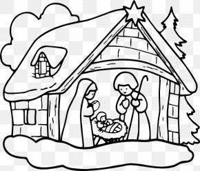 Nativity Black Cliparts - Nativity Scene Holy Family Christmas Nativity Of Jesus Clip Art PNG