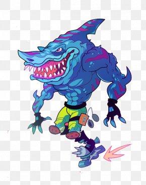 Muscle Shark - Shark Muscle Comics PNG