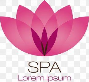 Decorative Spa Lotus Logo - Massage Spa Manicure Hand Pedicure PNG