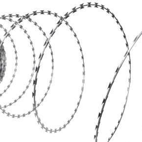 Barbwire - Barbed Tape Galvanization Barbed Wire Concertina Wire PNG