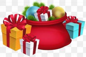 Gift - Santa Claus Christmas Decoration Gift Clip Art PNG