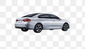 Silver Car Rear - Mid-size Car Automotive Design PNG