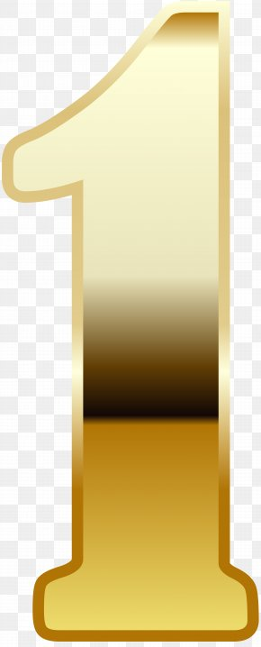 Gold Number One Image - Yellow Font Angle Design PNG