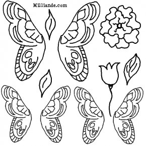 Costume Wings Outline - Tooth Fairy Paper Doll Clip Art PNG