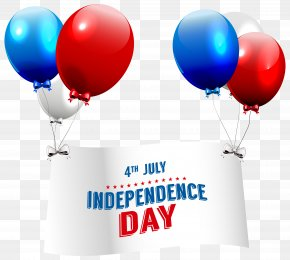 Independence Day With Balloons Transparent Clip Art Image - Independence Day Clip Art PNG